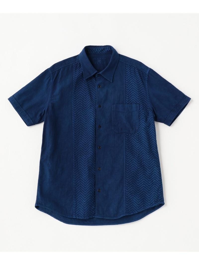 JOSEPH ABBOUD 30周年記念藍手染めクレイジーパターン シャツ ジョセフアブード シャツ/ブラウス【送料無料】