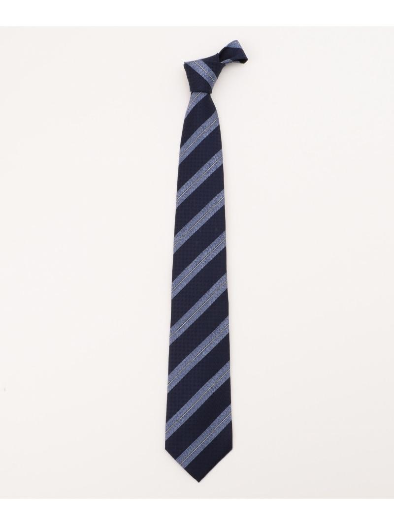 gotairiku 駒糸 ネクタイ ストライプレジメンタル ゴタイリク ビジネス フォーマル ネクタイ ネイビー ホワイト ブルー 送料無料1uTKFJ3lc