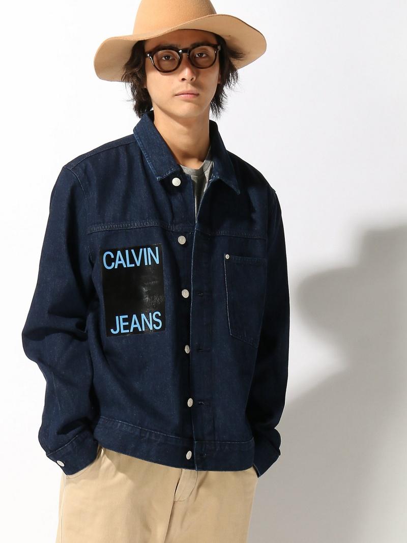 【SALE/50%OFF】CALVIN KLEIN JEANS (M)カルバンクライン メンズ デニムジャケット カルバン・クライン コート/ジャケット【RBA_S】【RBA_E】【送料無料】
