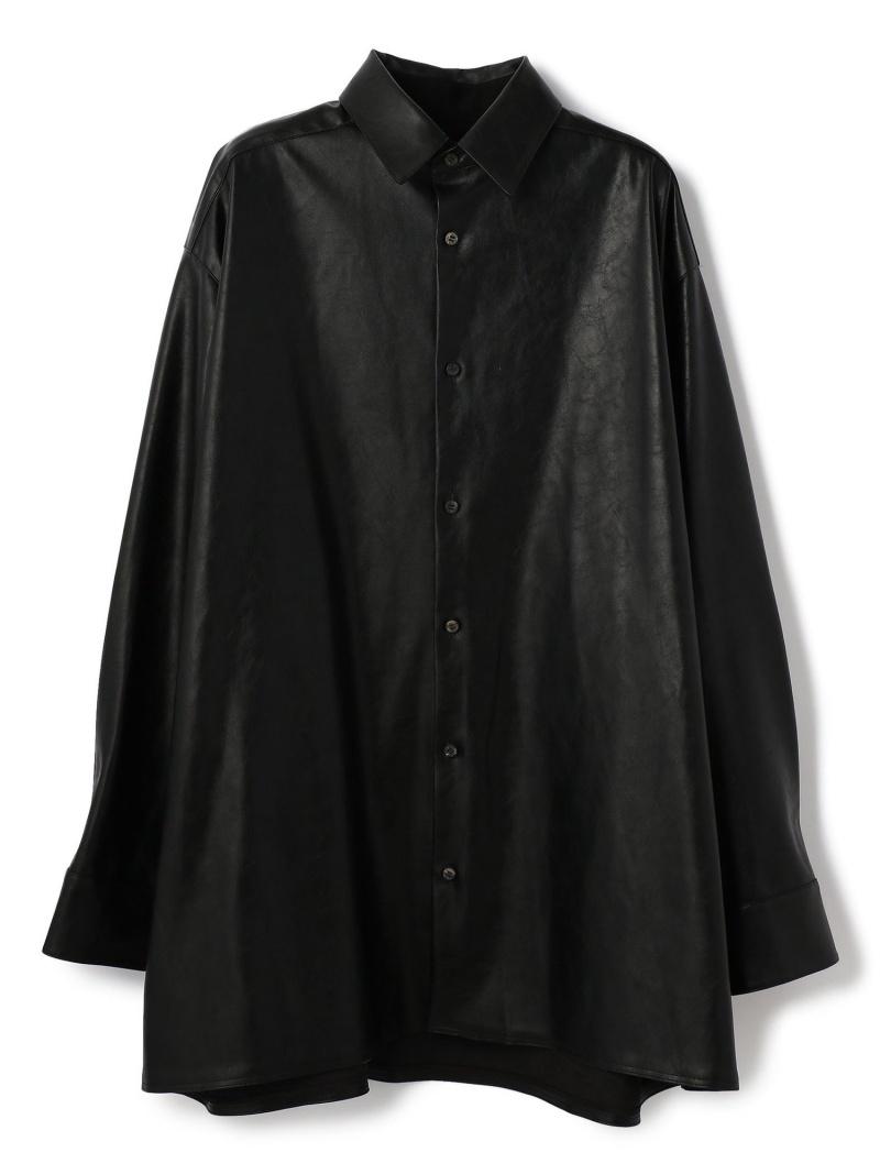 LHP th/ティーエイチ/OVER SHIRT エルエイチピー シャツ/ブラウス 長袖シャツ ブラック【送料無料】