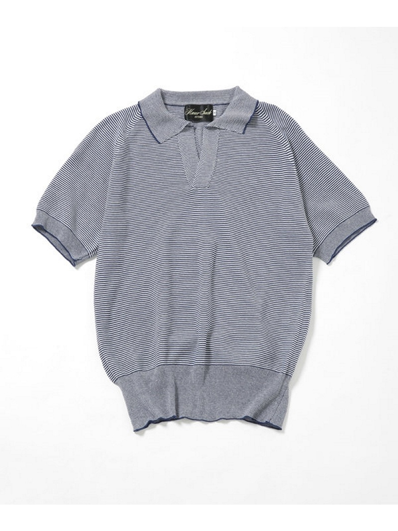 【SALE/40%OFF】HAVERSACK 12G Knit Garter Polo ナノユニバース カットソー【RBA_S】【RBA_E】【送料無料】