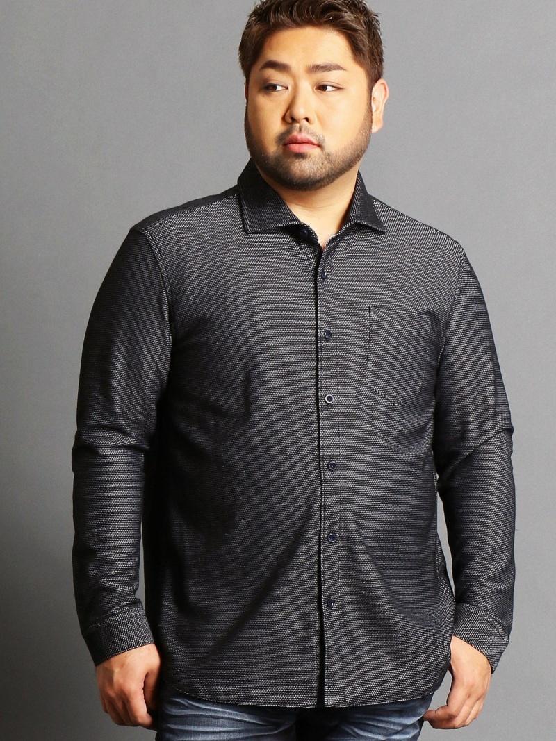 HIDEAWAYS(大きいサイズ) <大きいサイズ>胸ポケットつきカットシャツ ニコル シャツ/ブラウス【送料無料】