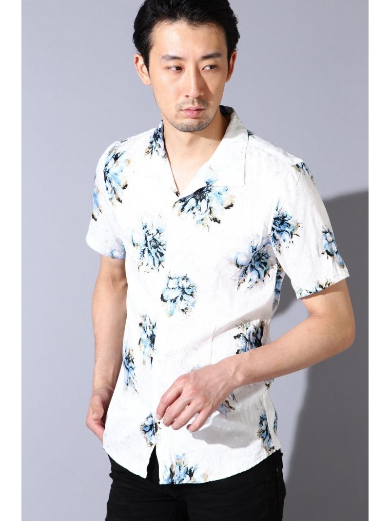 TORNADO MART TORNADO MART∴マリーゴールドプリント半袖シャツ トルネードマート シャツ/ブラウス【送料無料】