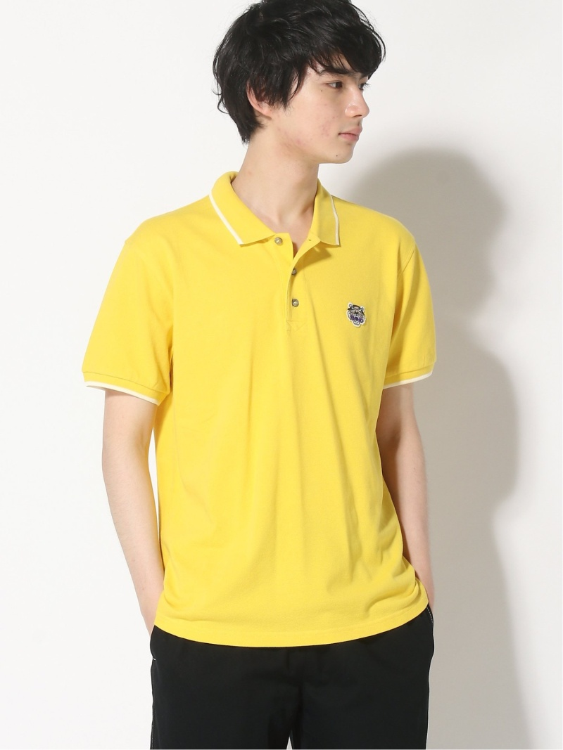 KENZO (M)Tiger Crest Polo C Fit ケンゾー カットソー ポロシャツ イエロー ブルー ネイビー ホワイト レッド【送料無料】