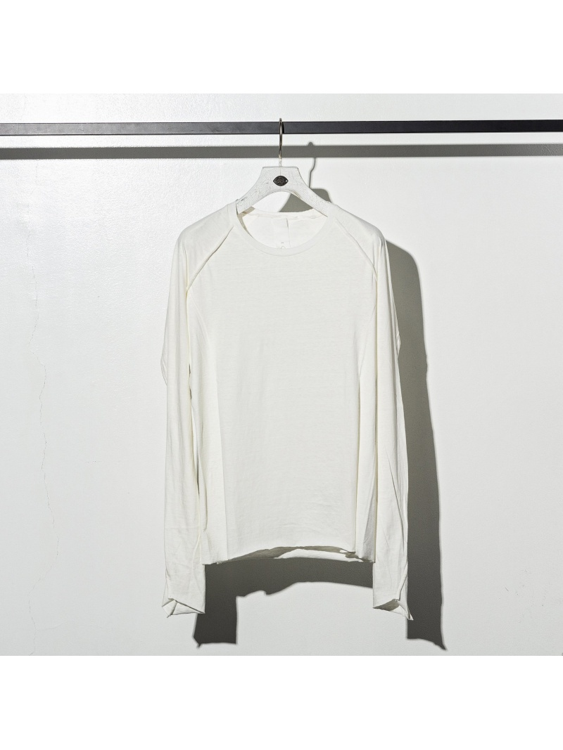 CDM BY CARPEDIEM CDM BY CARPEDIEM/MST-902 ロングスリーブTシャツ シフォン カットソー Tシャツ ホワイト【送料無料】