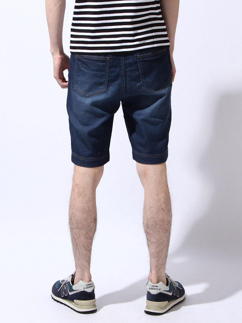 GLOBAL WORK(M)靛蓝cut短裤全球化工作裤/牛仔裤