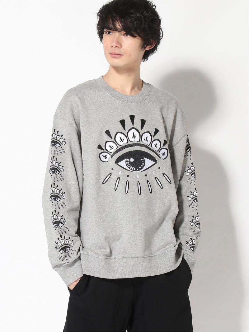 KENZO (M)Graphic Eye Sweatshirt ケンゾー カットソー スウェット グレー【送料無料】