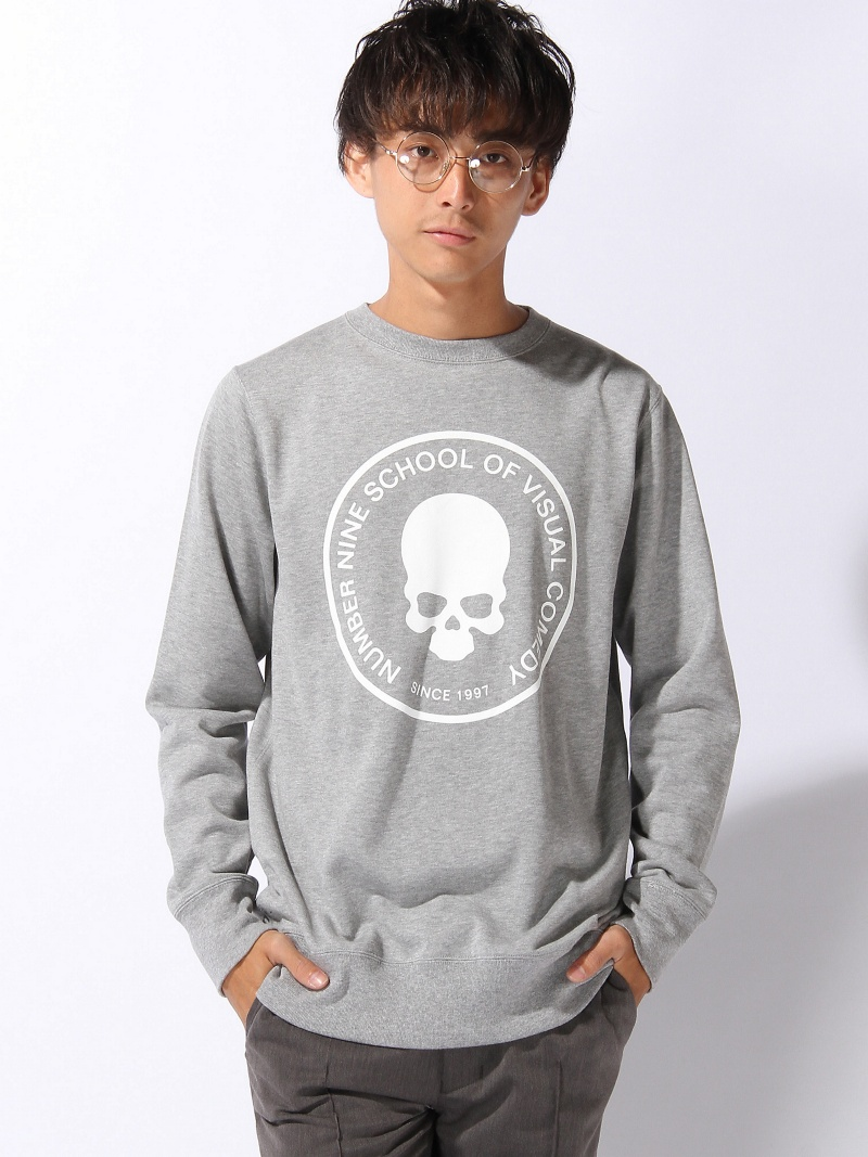 【SALE/20%OFF】NUMBER (N)INE SWEAT SHIRTS_SCHOOL OF VISUAL COMEDY ナンバーナイン カットソー【RBA_S】【RBA_E】【送料無料】