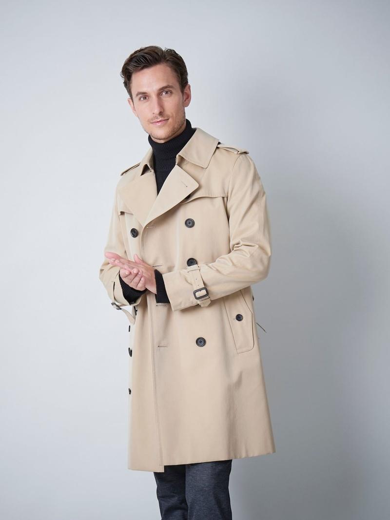 SANYO <100年コート>ダブルトレンチコート サンヨー コート/ジャケット【送料無料】