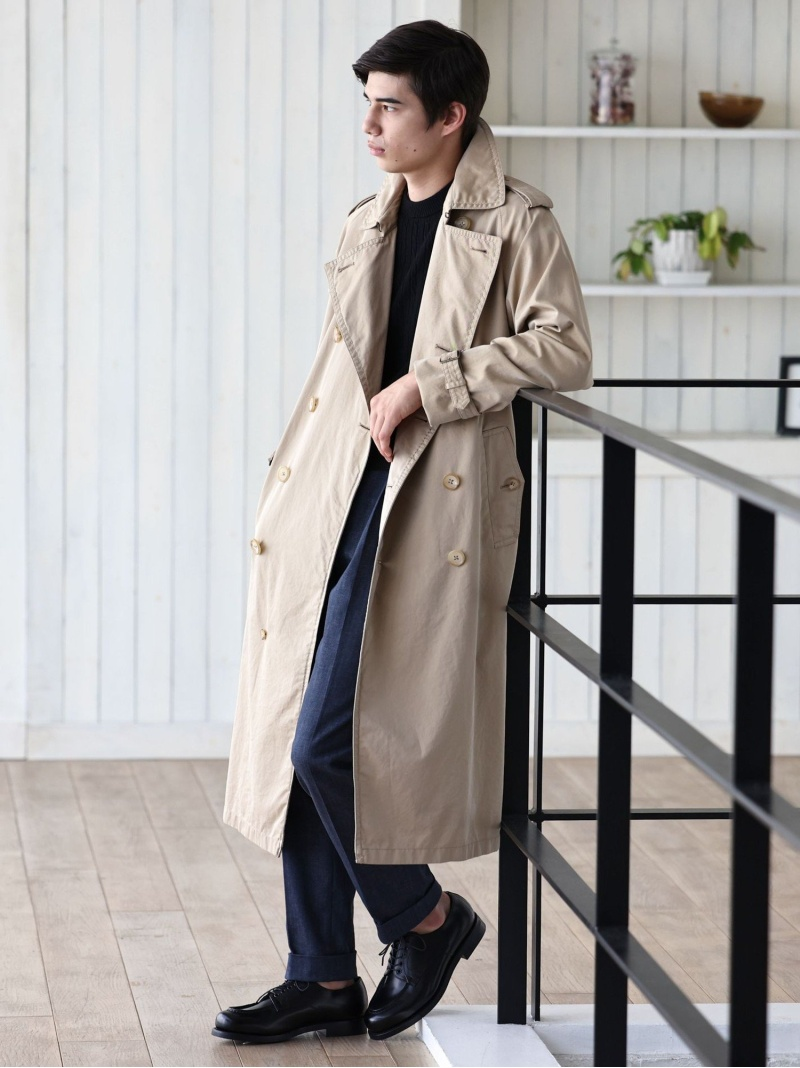 SANYO <100年コート>エイジドクラシックダブルトレンチコート サンヨー コート/ジャケット【送料無料】