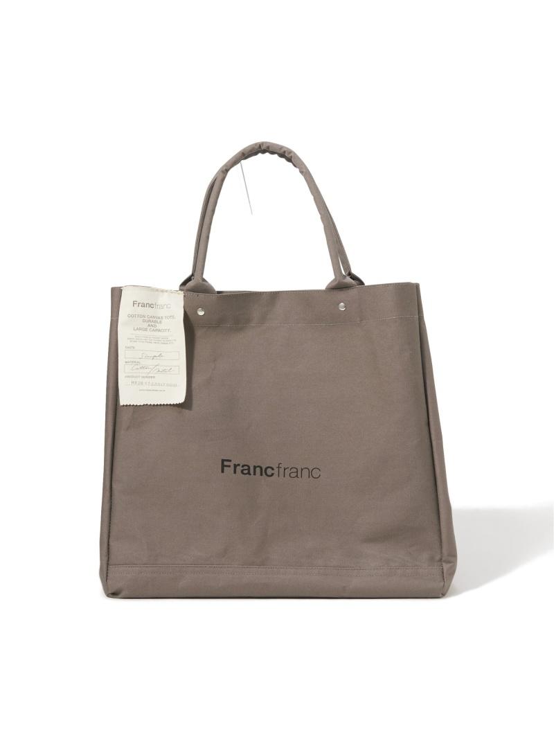 Francfranc ユニセックス バッグ フランフラン L 新色 セール 特集 タグ トートバッグ ロゴ