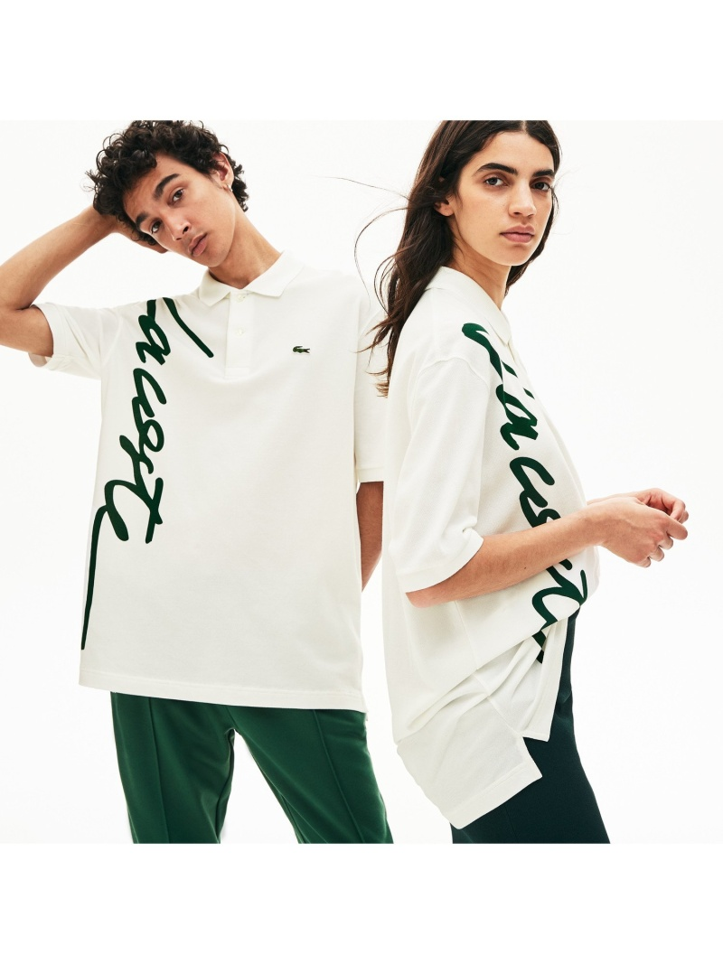 【SALE/30%OFF】LACOSTE 『LACOSTEL!VE』ビッグネームプリントポロ ラコステ カットソー ポロシャツ【RBA_E】【送料無料】