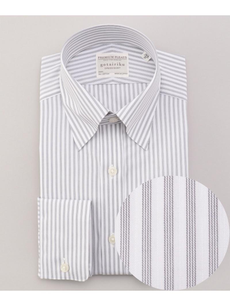 gotairiku 【形態安定】PREMIUMPLEATSドレスシャツ/スナップボタンカラー ゴタイリク シャツ/ブラウス ワイシャツ グレー【送料無料】
