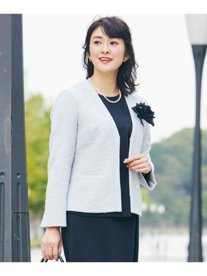 J.PRESS LADIES S Spring Tweed ノーカラージャケット ジェイプレス コート/ジャケット【送料無料】