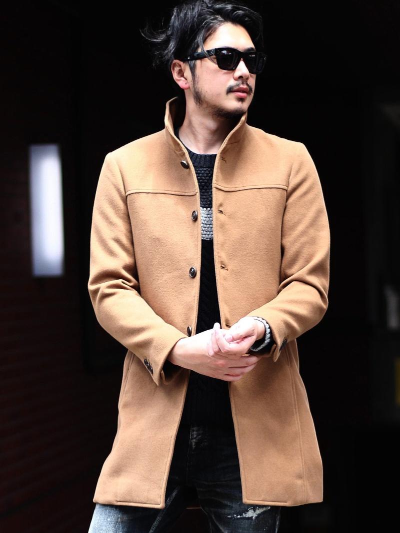RATTLE TRAP ハイブリットメルトンスタンドコート メンズ ビギ コート/ジャケット【送料無料】