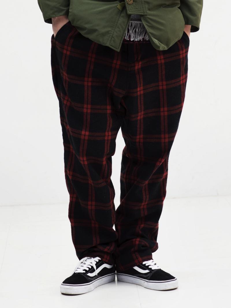 BAL DRAWSTRING PLAID PANT バル パンツ/ジーンズ フルレングス レッド グレー ホワイト【送料無料】