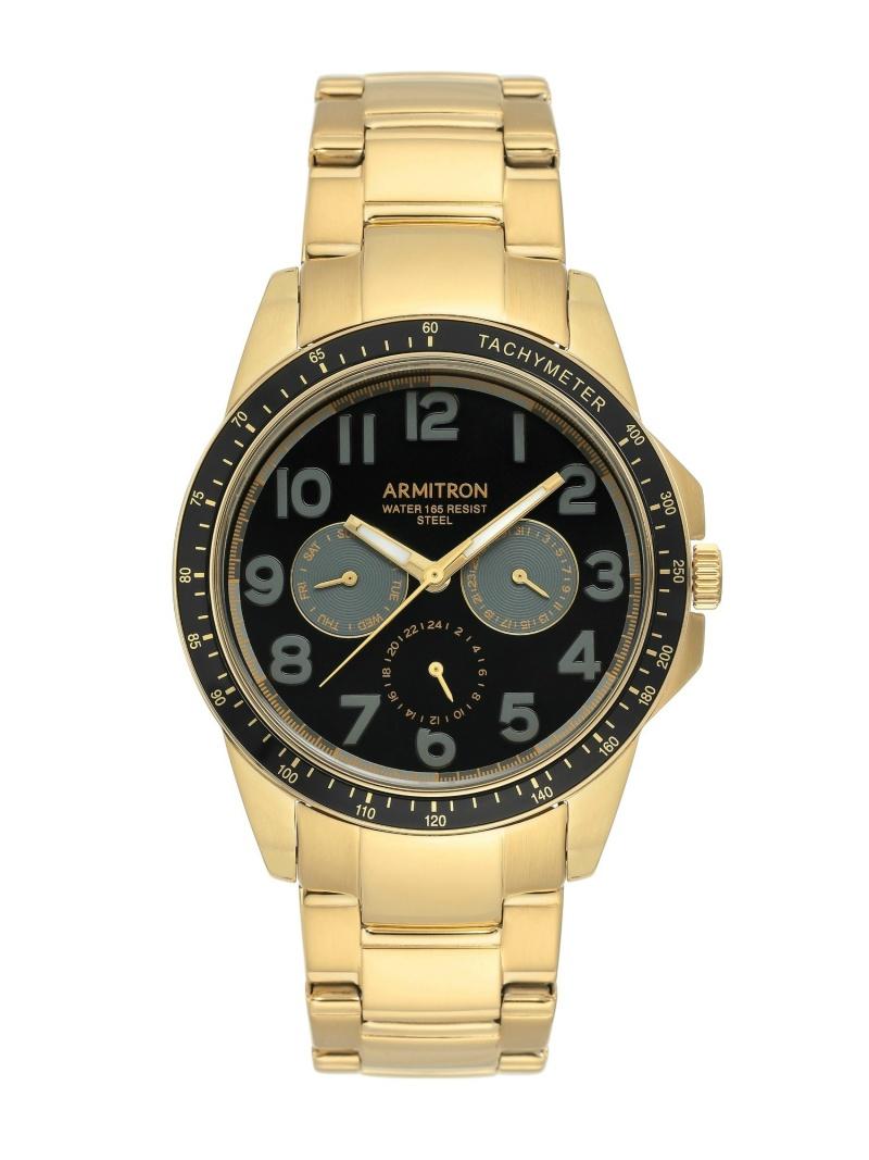【SALE/10%OFF】ARMITRON NEW YORK ARMITRON NEWYORK/(M)腕時計 アナログ ステンレスウォッチ オブライフ ファッショングッズ 腕時計 ゴールド シルバー ブラック【RBA_E】【送料無料】