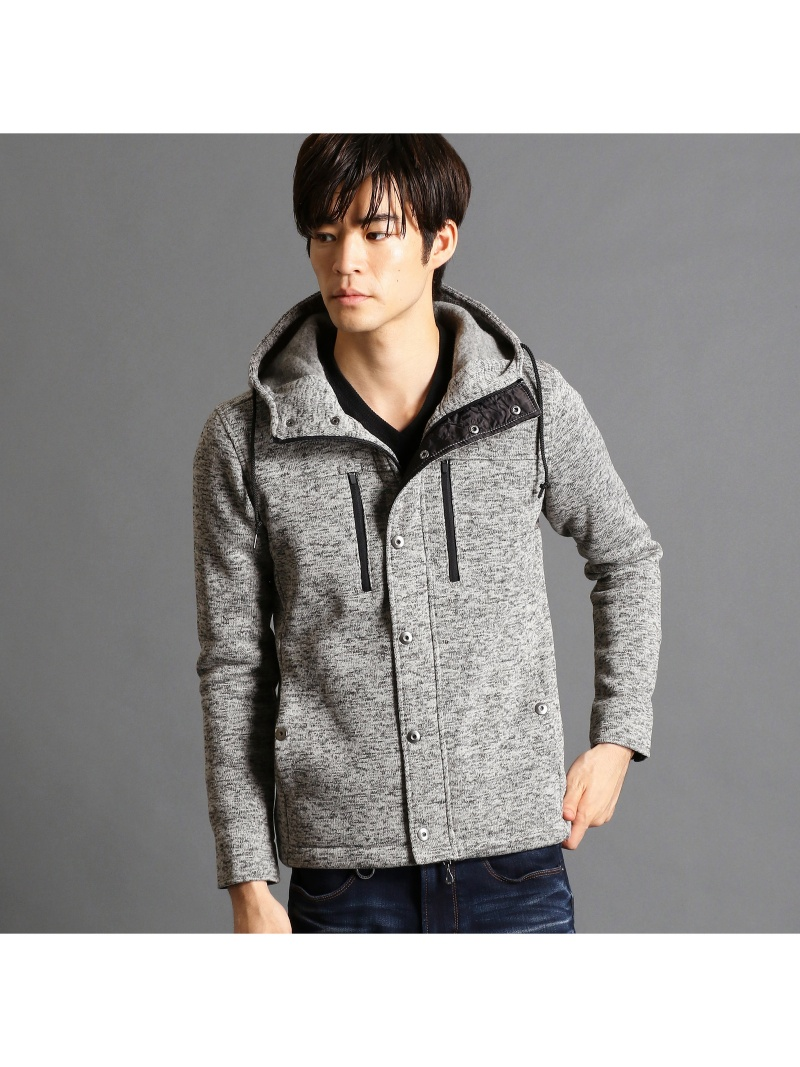 NICOLE CLUB FOR MEN フード付きニットフリースブルゾン ニコル コート/ジャケット【送料無料】
