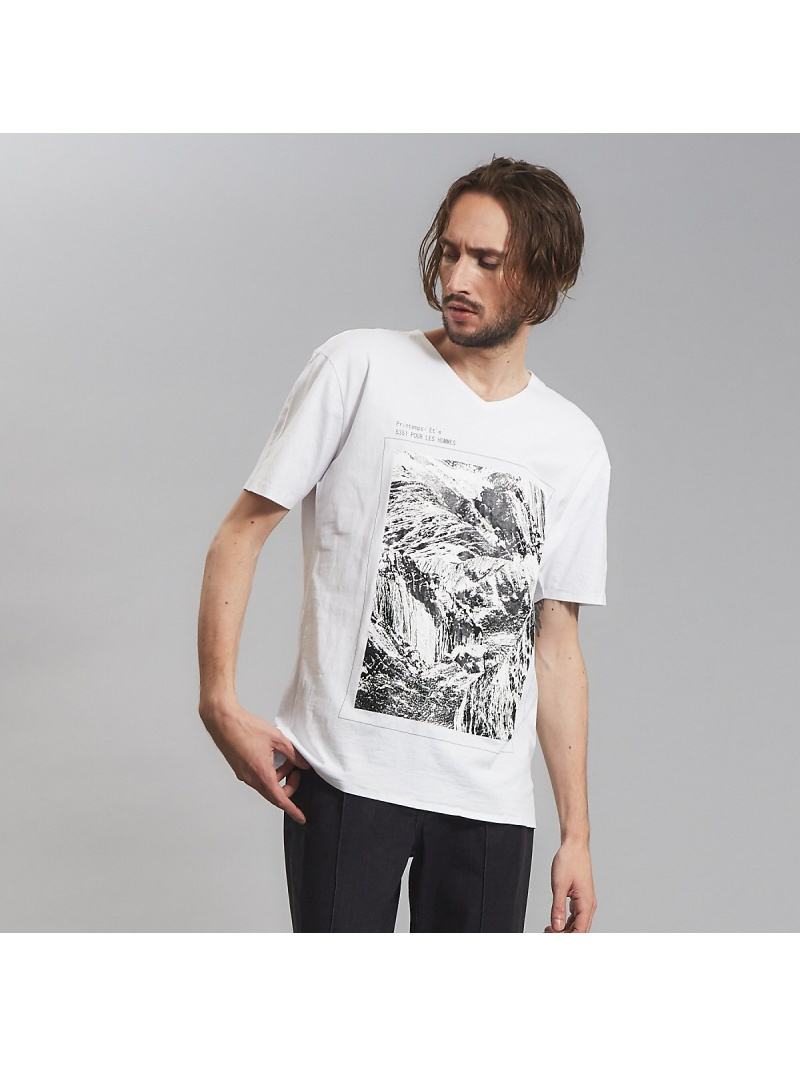 5351POUR LES HOMMES 圧着マウンテンTシャツ ゴーサンゴーイチプールオム カットソー【先行予約】*【送料無料】