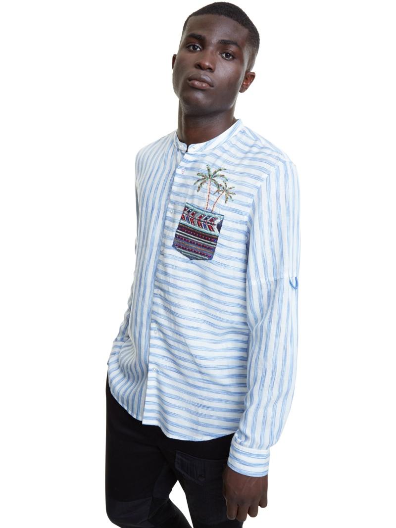 Desigual シャツ長袖 CORWIN デシグアル シャツ/ブラウス 長袖シャツ ホワイト【送料無料】