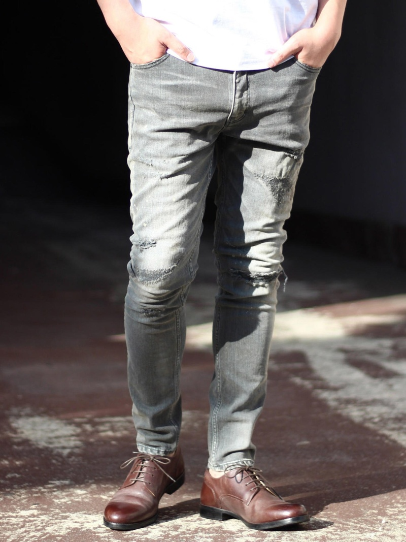 RATTLE TRAP 別注distressed jeans メンズ ビギ パンツ/ジーンズ【送料無料】