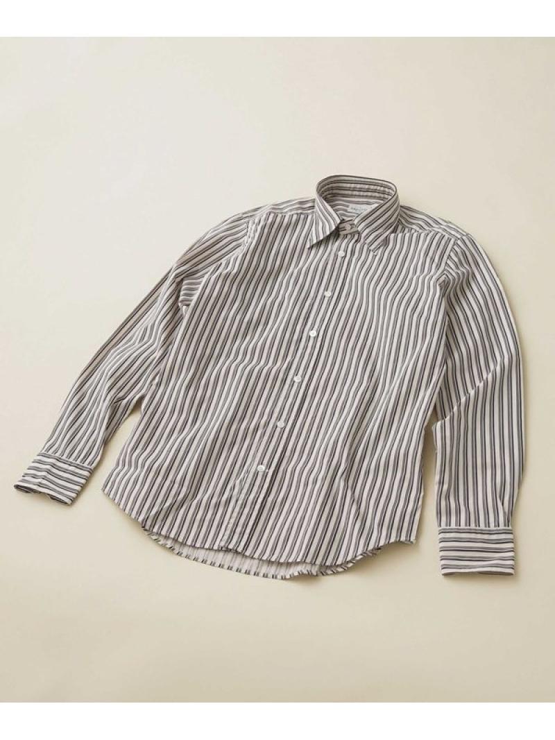 【SALE/50%OFF】BAGUTTA オルタネイトストライプレギュラーカラーシャツ ナノユニバース シャツ/ブラウス シャツ/ブラウスその他 ベージュ【RBA_E】【送料無料】
