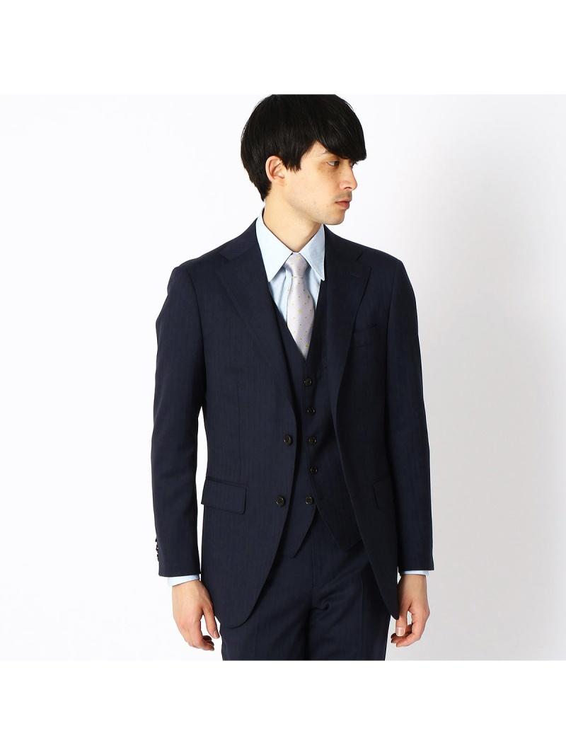 COMME CA ISM 〈セットアップ〉ZIGNONEクラシックモデルスーツジャケット コムサイズム ビジネス/フォーマル セットアップスーツ ネイビー ブラック【送料無料】