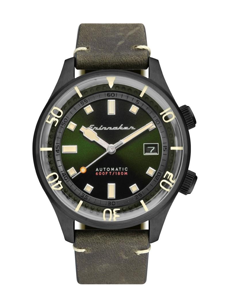 SPINNAKER メンズ ファッショングッズ スピニカー M BRADNER SP-5062-04 送料無料 豊富な品 ブラッドナー 42mm 腕時計 グリーン 高級な
