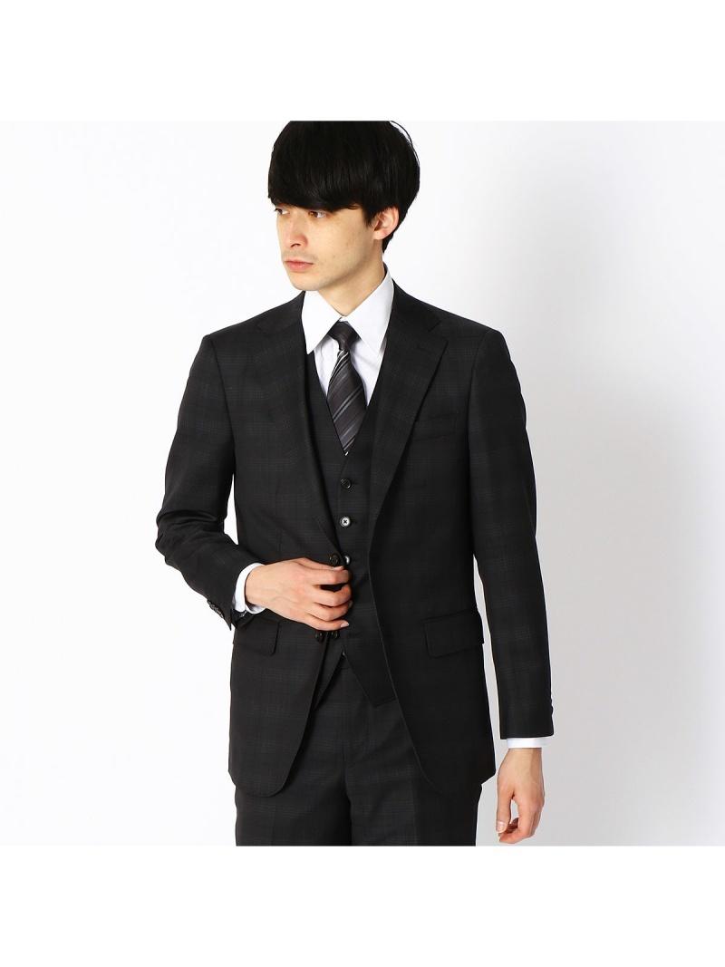 COMME CA ISM 〈セットアップ〉ZIGNONEクラシックモデルスーツジャケット コムサイズム ビジネス/フォーマル セットアップスーツ ブラック ネイビー【送料無料】