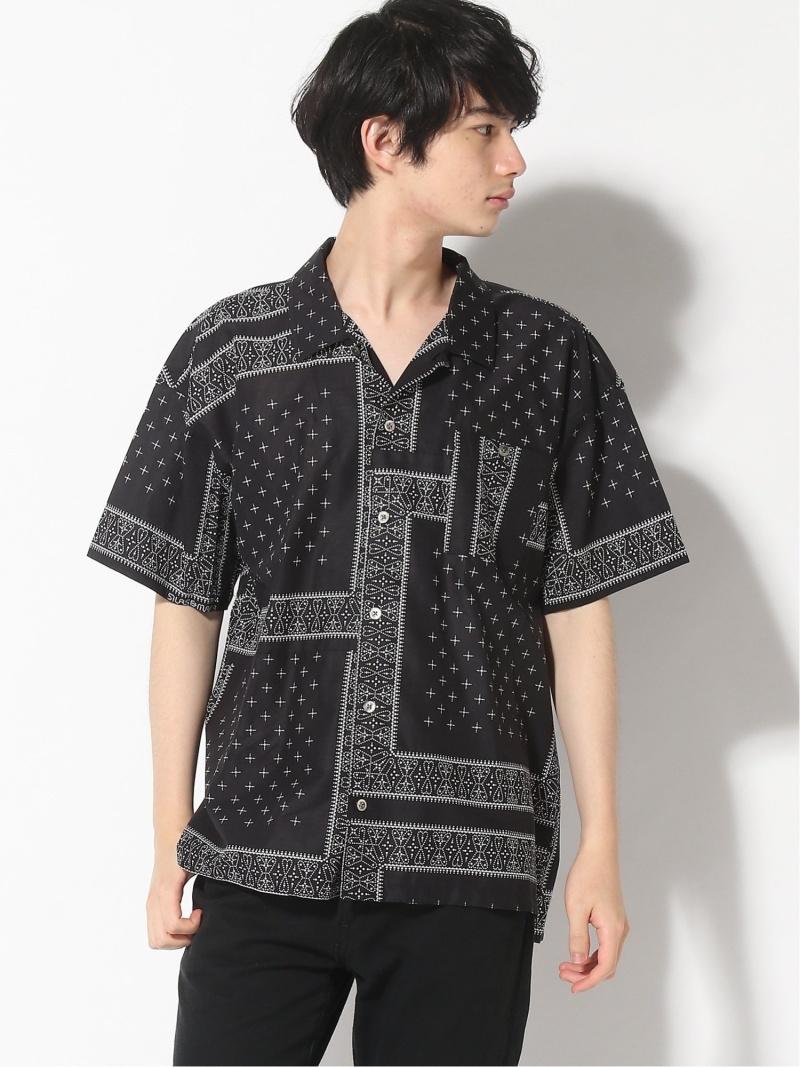 SILAS SS BANDANA PRINT SH サイラス シャツ/ブラウス 半袖シャツ ブラック ネイビー【送料無料】