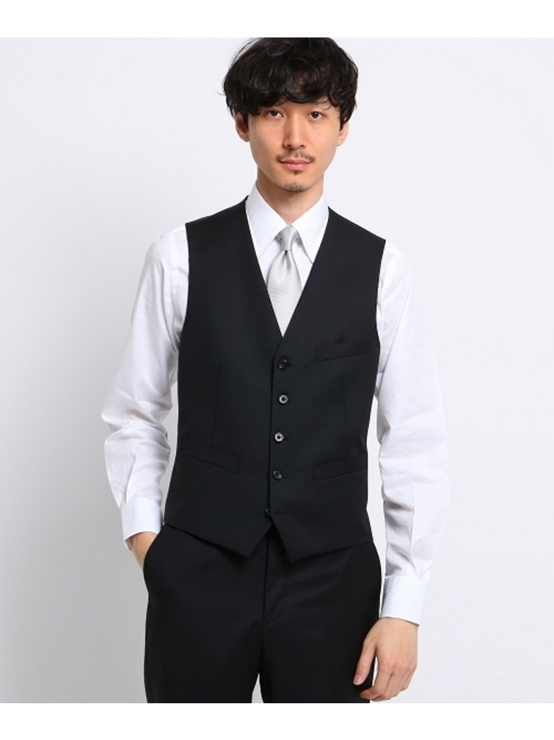 TAKEO KIKUCHI サージシングルベスト[ メンズ 結婚式 ] タケオキクチ コート/ジャケット【送料無料】