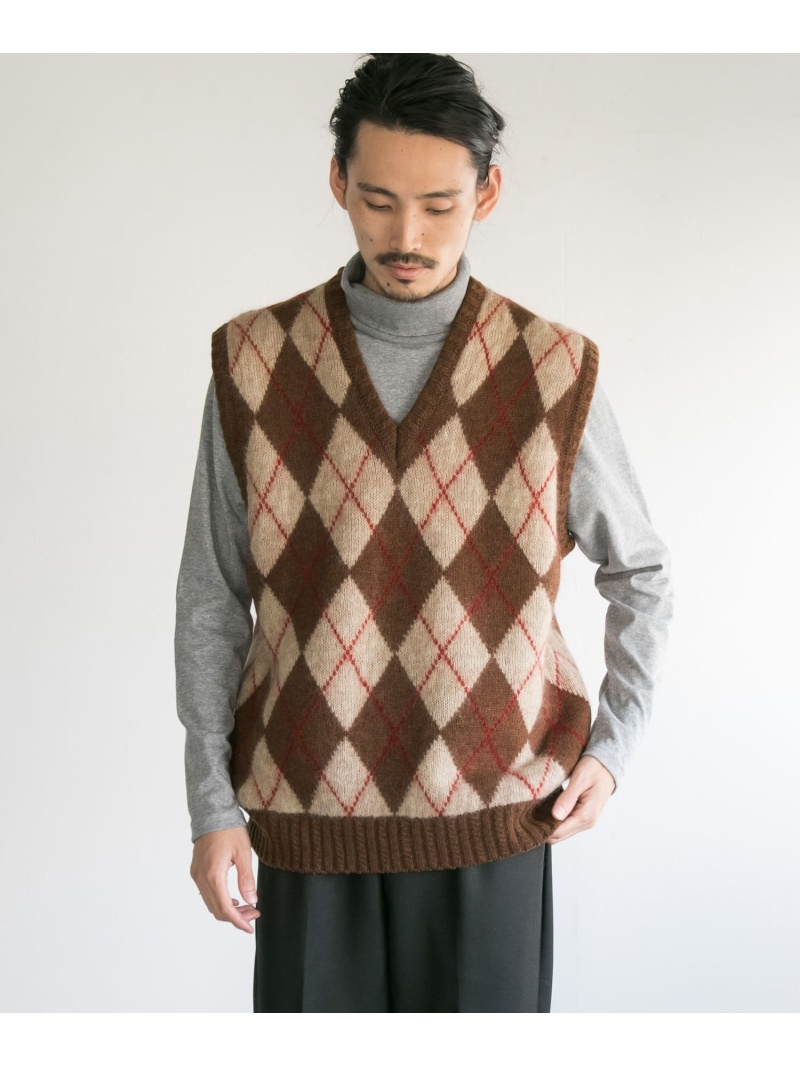 URBAN RESEARCH COSEI 5GアーガイルKNIT VEST アーバンリサーチ カットソー【送料無料】