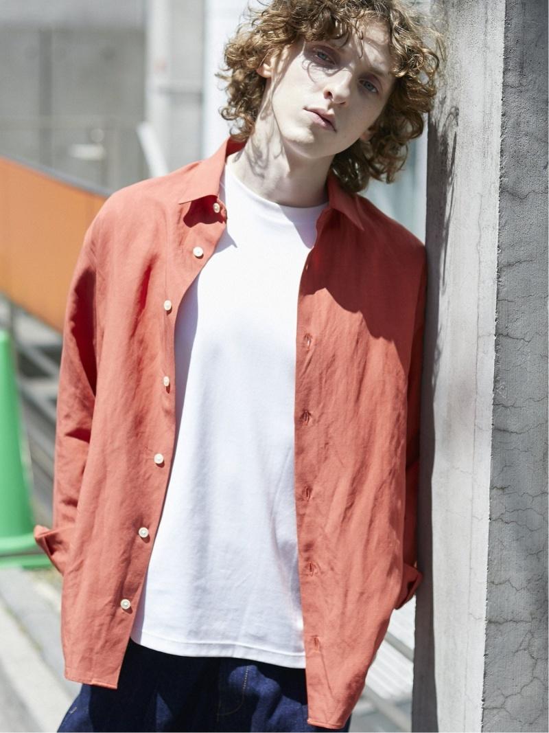 【SALE/20%OFF】PUBLIC TOKYO ニドムリネンレギュラーカラーシャツ パブリックトウキョウ シャツ/ブラウス シャツ/ブラウスその他 オレンジ グレー ネイビー ホワイト【RBA_E】【先行予約】*【送料無料】