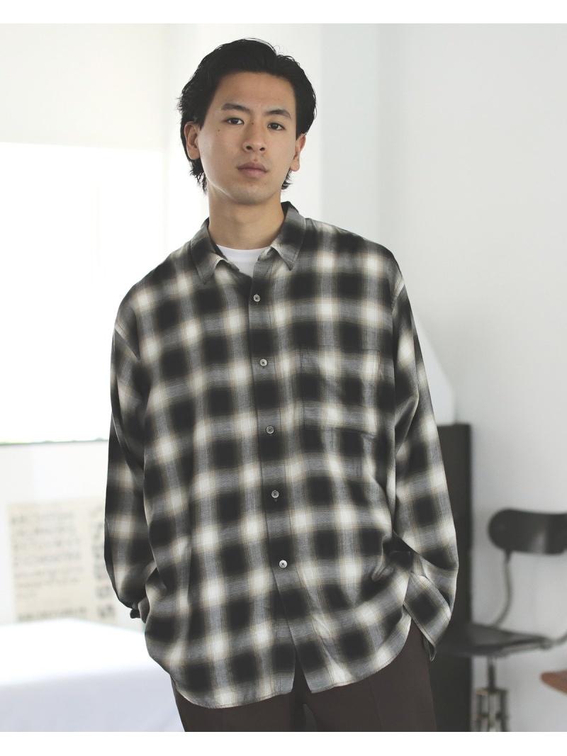 BEAMS MEN BEAMS / オンブレ チェック イージーシャツ ビームス メン シャツ/ブラウス 長袖シャツ【送料無料】