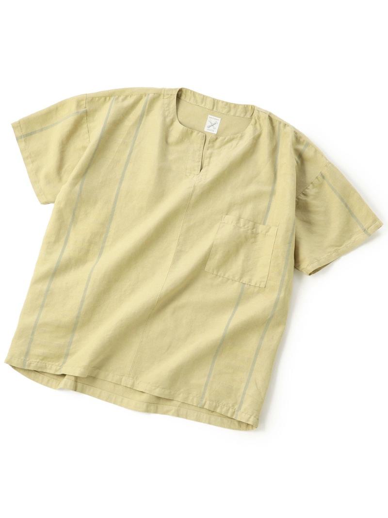 【SALE/20%OFF】ADITIONAL [リメイク商品]ノーカラーシャツ/製品染め メンズ ビギ シャツ/ブラウス【RBA_S】【RBA_E】【送料無料】