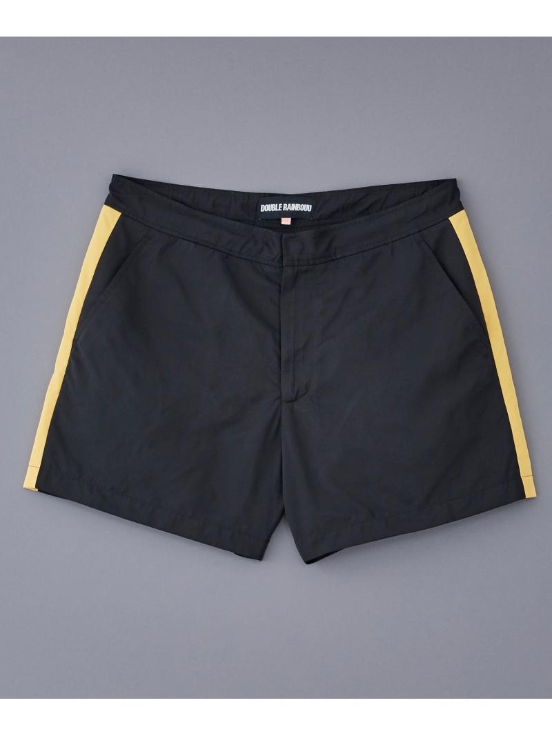 JOHN LAWRENCE SULLIVAN DOUBLE RAINBOUU/(M)DR010 ピーアールワン パンツ/ジーンズ ショートパンツ ブラック ホワイト【送料無料】