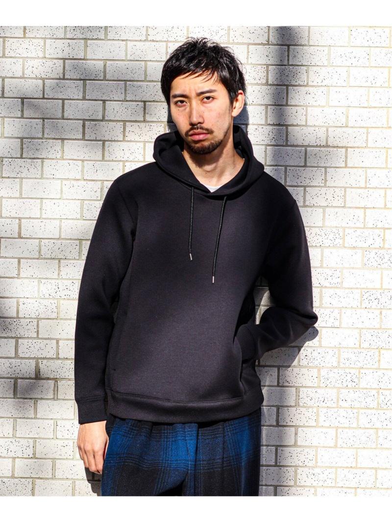 EDIFICE ライトダンボール パーカー エディフィス カットソー パーカー ブラック グレー【送料無料】