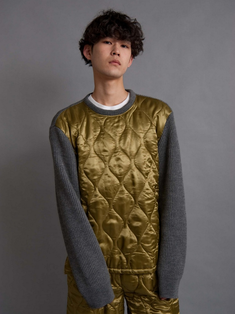 【SALE/10%OFF】DISCOVERED QUILTING KNIT ディスカバード ニット【RBA_S】【RBA_E】【送料無料】