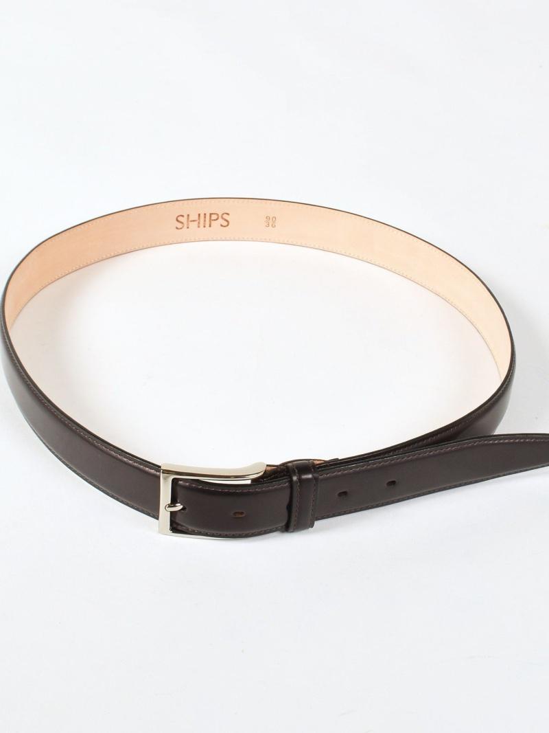SHIPS SD:【RINALDI】レザーベルト シップス ファッショングッズ ベルト レッド ブラック ブラウン【送料無料】
