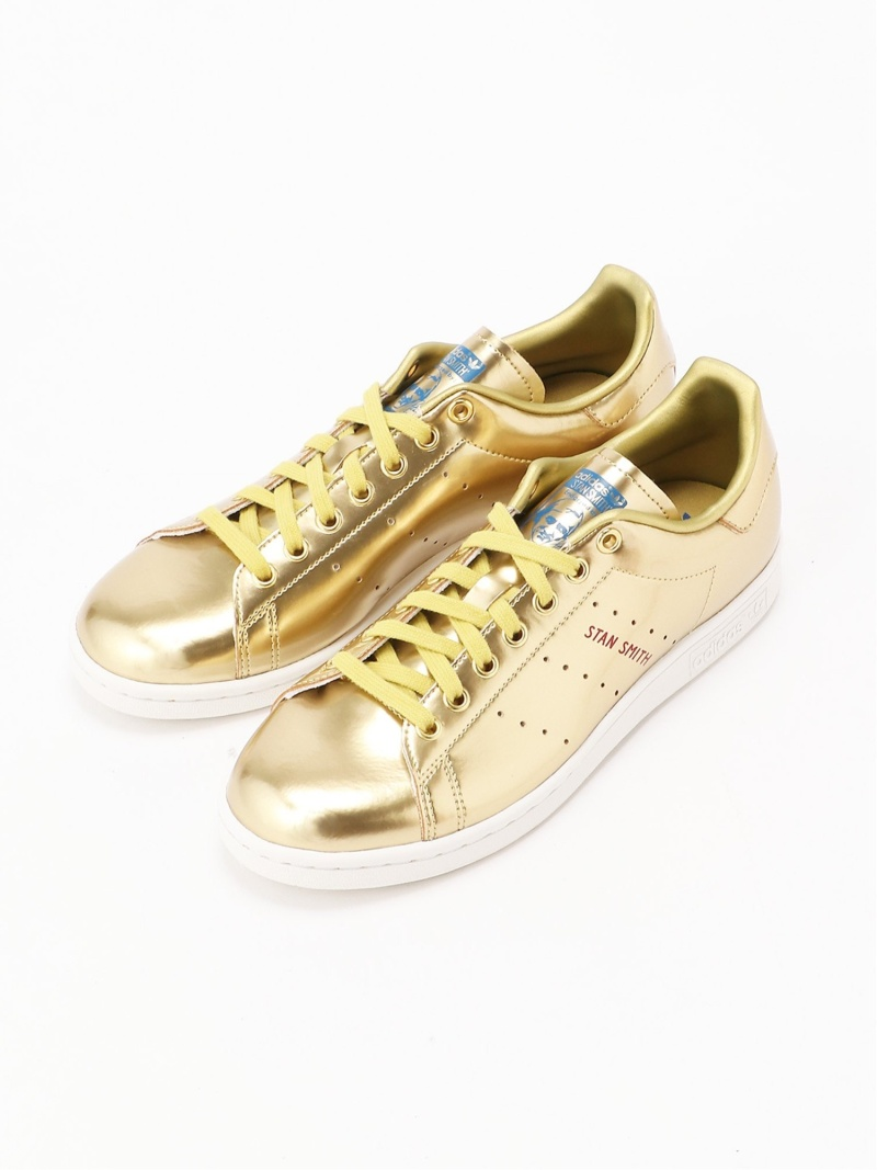 adidas Originals (U)STAN SMITH アディダス シューズ スニーカー/スリッポン ゴールド シルバー【送料無料】