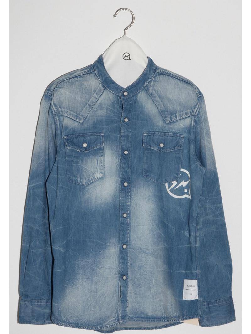 DENIM BY VANQUISH&FRAGMENT western denim band collar shirt デニムバイヴァンキッシュアンドフラグメント シャツ/ブラウス【送料無料】