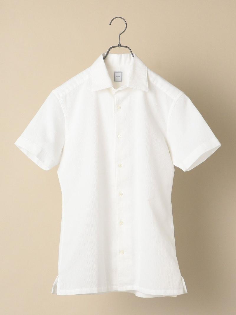 SHIPS SD:ウォッシュドパナマショートスリーブシャツ シップス シャツ/ブラウス 半袖シャツ ホワイト【送料無料】