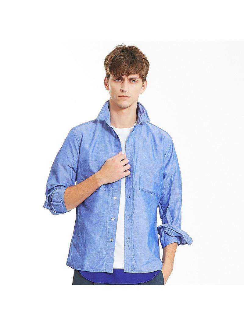 ABAHOUSE リネンコットンワイヤーシャツ アバハウス シャツ/ブラウス【送料無料】