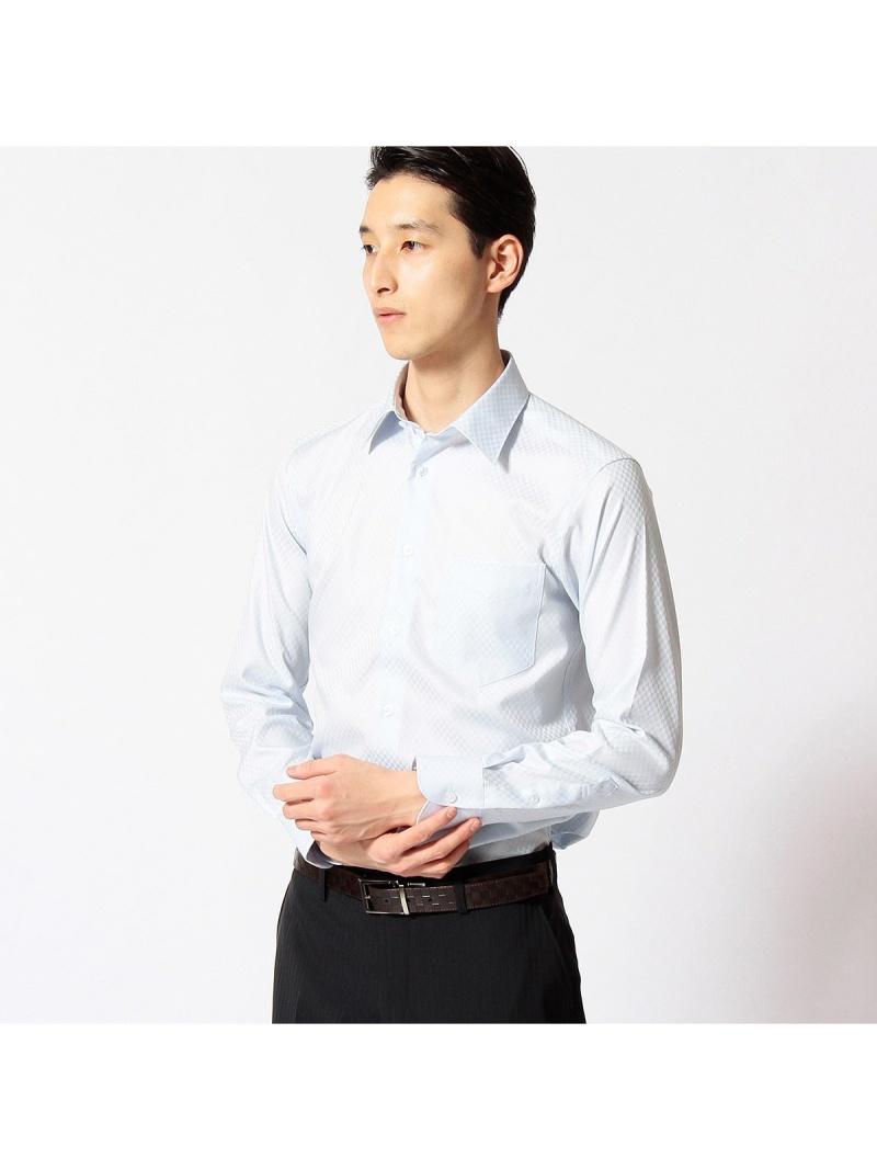 COMME CA MEN 人気の市松柄サテンシャツ コムサメン シャツ/ブラウス【送料無料】