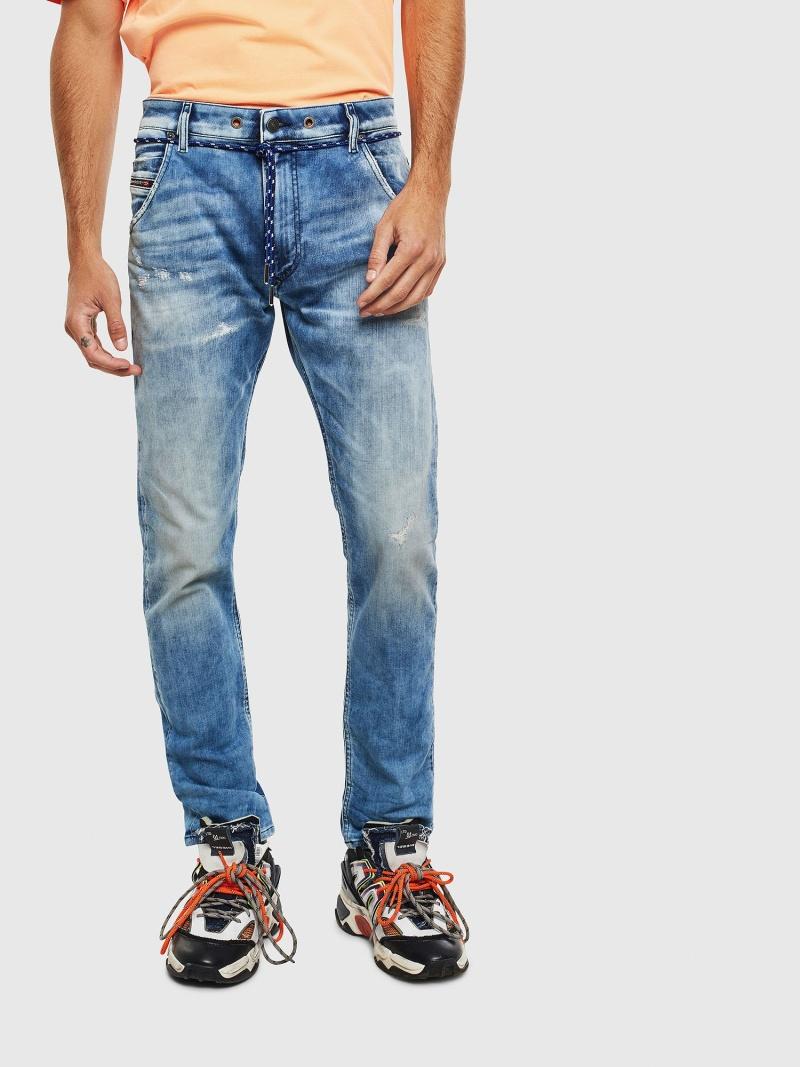DIESEL KrooleyJoggJeans0099Q ディーゼル パンツ/ジーンズ フルレングス ブルー【送料無料】
