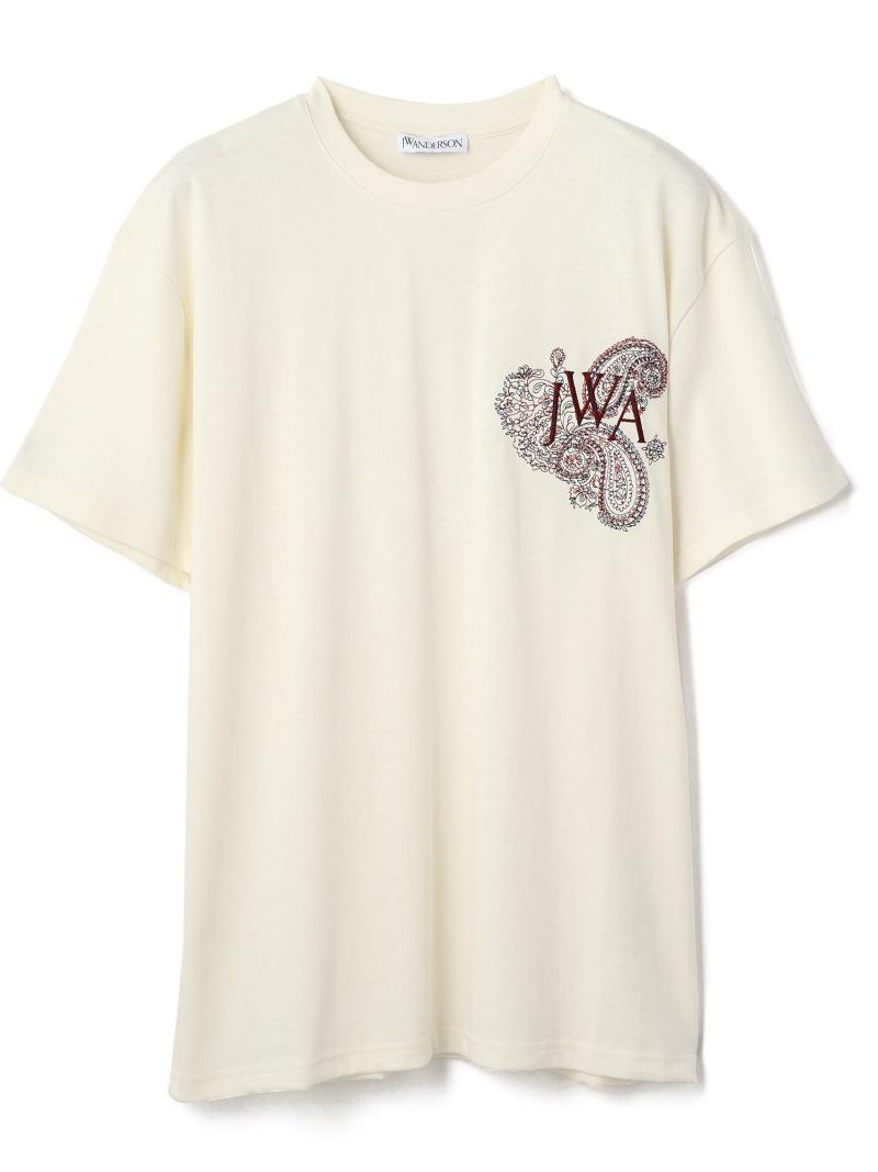 LHP JW ANDERSON/ジェイダブリューアンダーソン/EMBROIDERED LOGO T-SHIRT エルエイチピー カットソー Tシャツ ホワイト ブラック【送料無料】