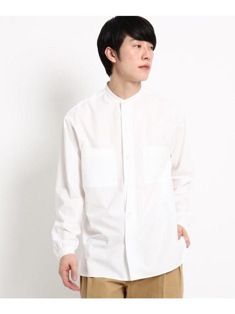 DRESSTERIOR(Men) 【洗える】タイプライタースタンドカラーシャツ ドレステリア シャツ/ブラウス【送料無料】