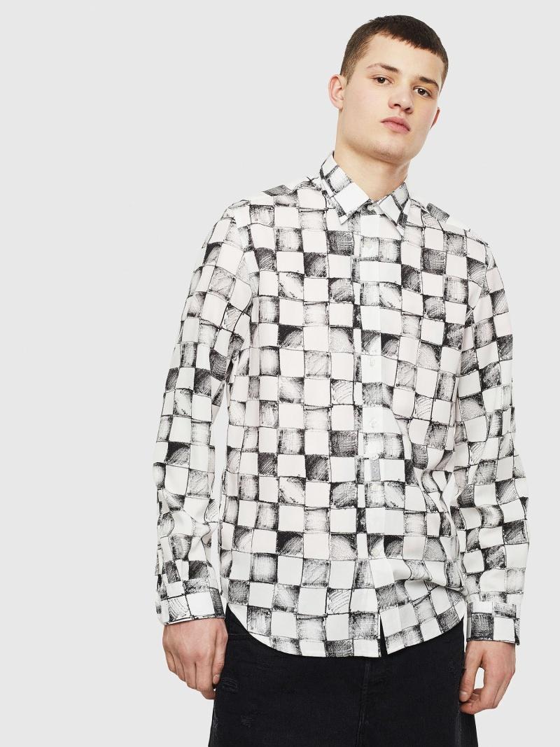 DIESEL S-CLES ディーゼル シャツ/ブラウス ワイシャツ ホワイト【送料無料】