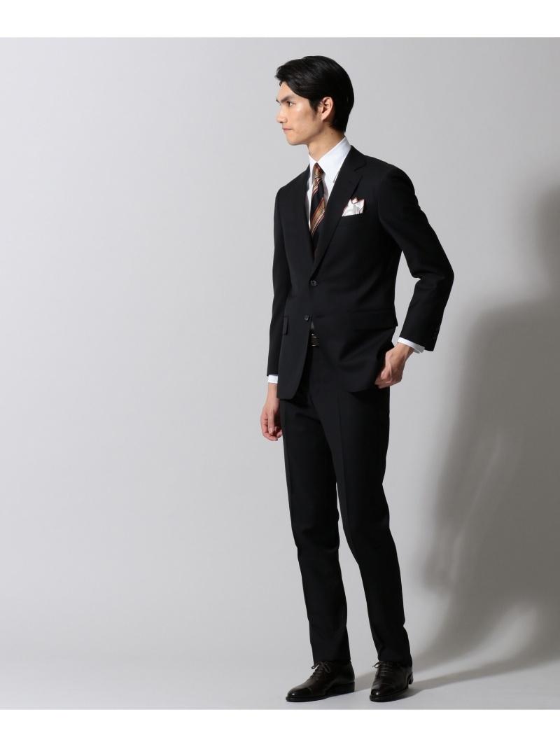 gotairiku 【DORMEUIL】ジェントルブリーズ ブラックシャドーストライプ スーツ ゴタイリク ビジネス/フォーマル セットアップスーツ ブラック【送料無料】