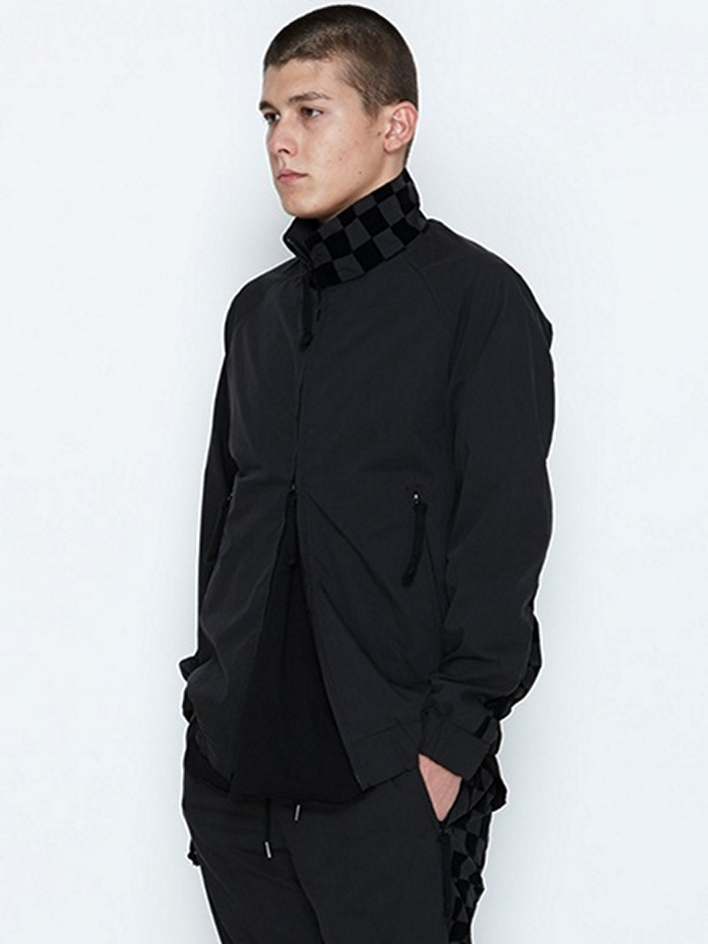 【SALE/20%OFF】NUMBER (N)INE ZIP UP BLOUSON_CHECKERD FLAG ナンバーナイン コート/ジャケット【RBA_S】【RBA_E】【送料無料】